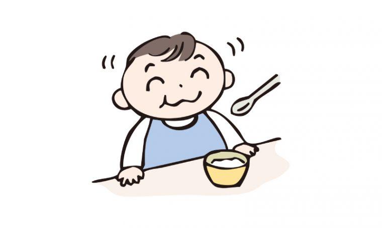 ご飯を食べる赤ちゃん