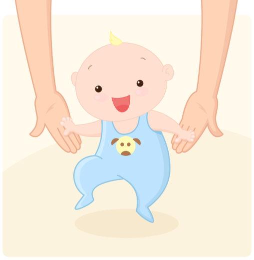 赤ちゃんが歩くイラスト