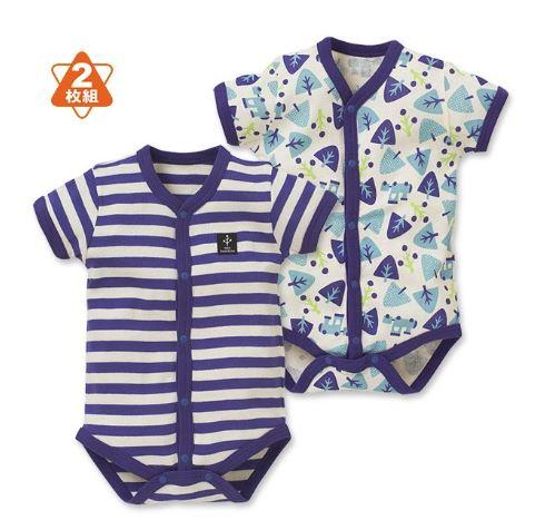 赤ちゃんの青の夏服