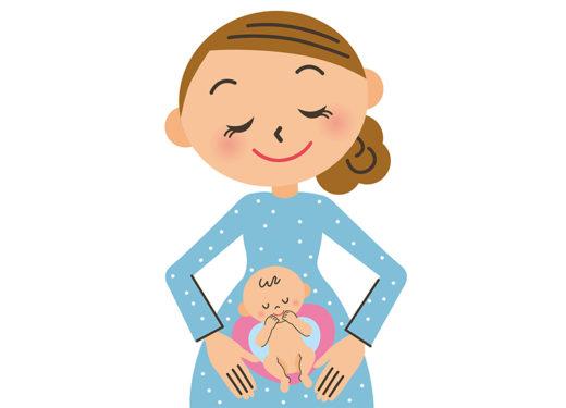 妊娠している女性のイラスト