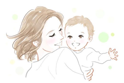 子を抱く母親