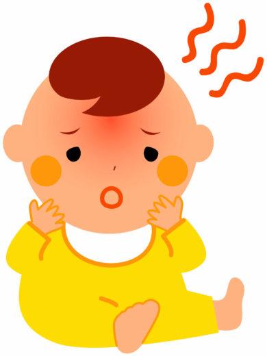 熱のある赤ちゃん