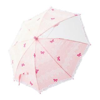 【ELFINDOLL】 手開き傘(フリル付きレース柄)