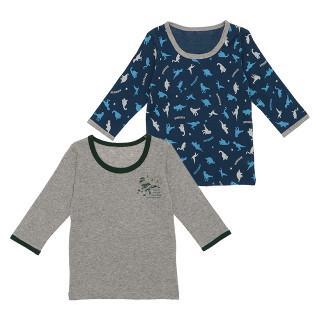 男児 2枚組 長袖シャツ