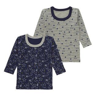 男児 2枚組 接結長袖シャツ