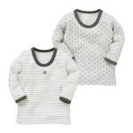 男児 2枚組 キルト長袖シャツ