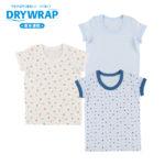 DRYWRAP ベビー 男児 3枚組 半袖シャツ