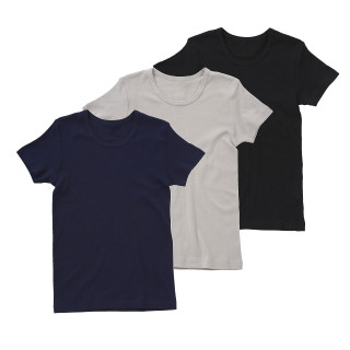 【ELFINDOLL】 スクール 男児 3枚組 半袖シャツ