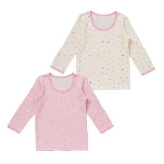 女児2枚組キルト長袖シャツ