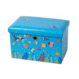 【SmartAngel】 座れるおもちゃ箱 アクアリウム