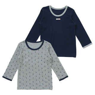 男児2枚組接結長袖シャツ