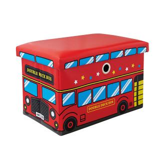【SmartAngel】 座れるおもちゃ箱 ダブルデッキバス