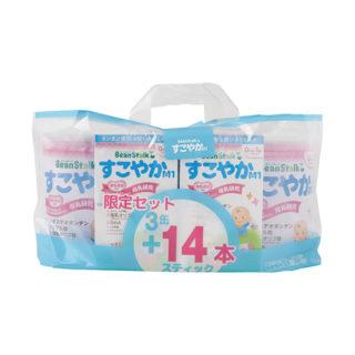 雪印BS すこやか M1 限定セット 大缶3缶+スティック14本