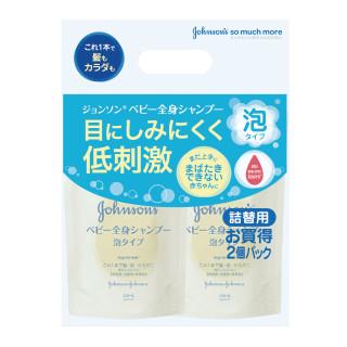 J&J 泡シャンプー 詰替 350ml×2個パック