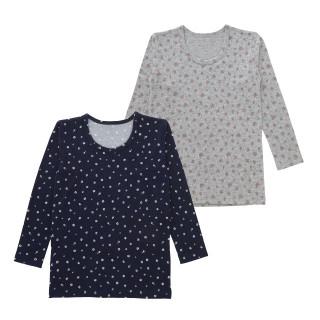 女児2枚組起毛長袖シャツ