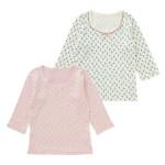 女児2枚組厚地長袖シャツ