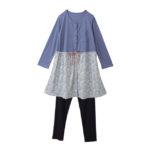 【ELFINDOLL】 花柄ドッキングパジャマ