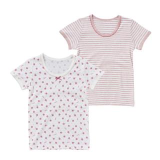 女児2枚組半袖シャツ