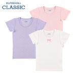 【ELFINDOLL】 女児 3枚組 半袖シャツ