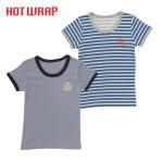 HOTWRAP 男児 2枚組 半袖シャツ