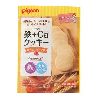 ピジョン 鉄+Caクッキー ほんのりメープル 個包装10枚入