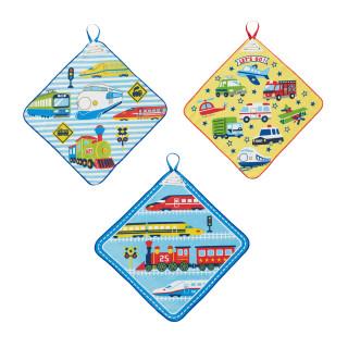 【ELFINDOLL】 3枚組 ループ付タオル