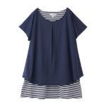 【ELFINDOLL】 ケープ使い二重仕立てTシャツ