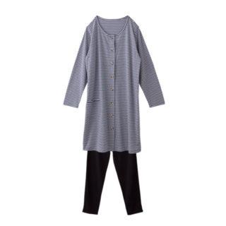 【ELFINDOLL】 天竺前あき ボーダーパジャマ