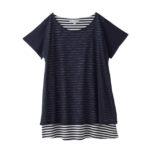 【ELFINDOLL】 レイヤード風Tシャツ