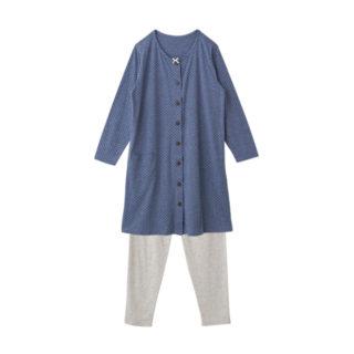 【ELFINDOLL】 前あき ピコレース付 ボーダーパジャマ