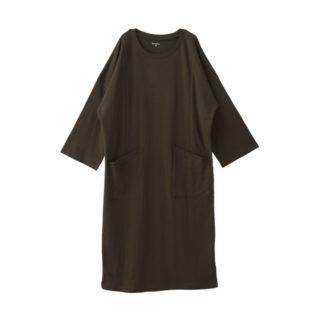 【ELFINDOLL】 隠れファスナー授乳口 8分袖ワンピース