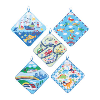 【ELFINDOLL】 5枚組 ループ付タオル