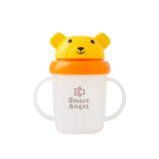 【SmartAngel】 くまさんストローマグ 黄色