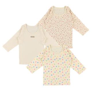 女児 3枚組 長袖シャツ