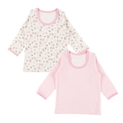 女児 2枚組 厚地 長袖シャツ