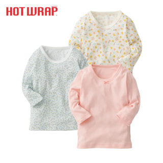 HOTWRAP 女児 3枚組 長袖シャツ