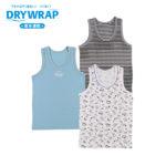 DRYWRAP キッズ 男児 3枚組 ランニングシャツ