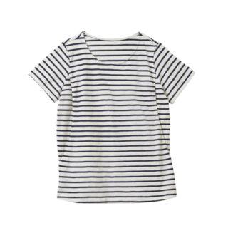 【ELFINDOLL】 授乳口付 半袖 ボーダーTシャツ