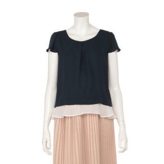 【ELFINDOLL】 レイヤード風 裾フリルTシャツ