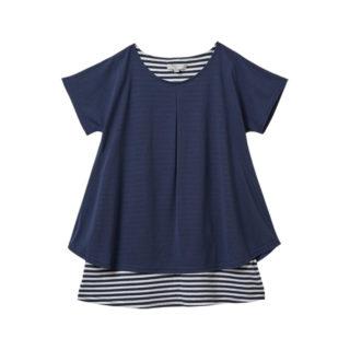 【ELFINDOLL】 レイヤード風 ボーダーTシャツ
