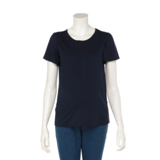 【ELFINDOLL】 授乳口付 袖フリル 半袖Tシャツ