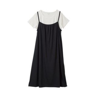 【ELFINDOLL】 授乳口付 半袖 Tシャツ付 キャミワンピース