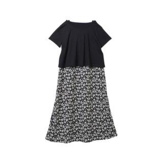 【ELFINDOLL】 Tシャツ付 ノースリワンピース