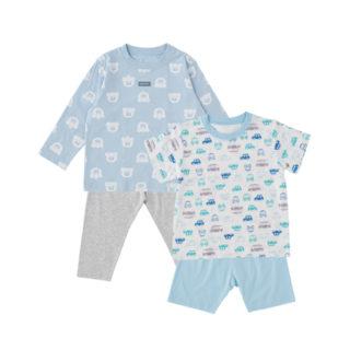 2枚組 パジャマ (長袖+半袖)