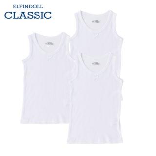 【ELFINDOLL CLASSIC】 女児 3枚組 タンクトップ