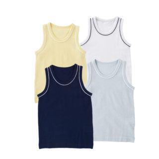 【ELFINDOLL】 4枚組 ベビー 夏物ランニング