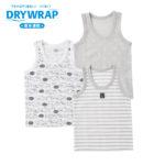 【ELFINDOLL】 DRYWRAP 3枚組 ベビー 夏物ランニング