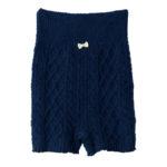 【ELFINDOLL】 1分丈腹巻付ケーブル編みパンツ