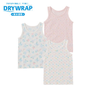 DRYWRAP 3枚組 女児 タンクトップ