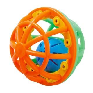 【SmartAngel】 ごきげんラトルボール オレンジ&グリーン